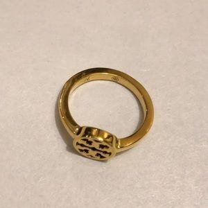 Tory Burch TT Logo Gold ring